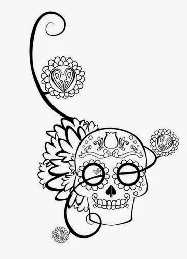 sugar skull with flowers adult coloring books sugar skull flower stress relieving sugar with flowers skull