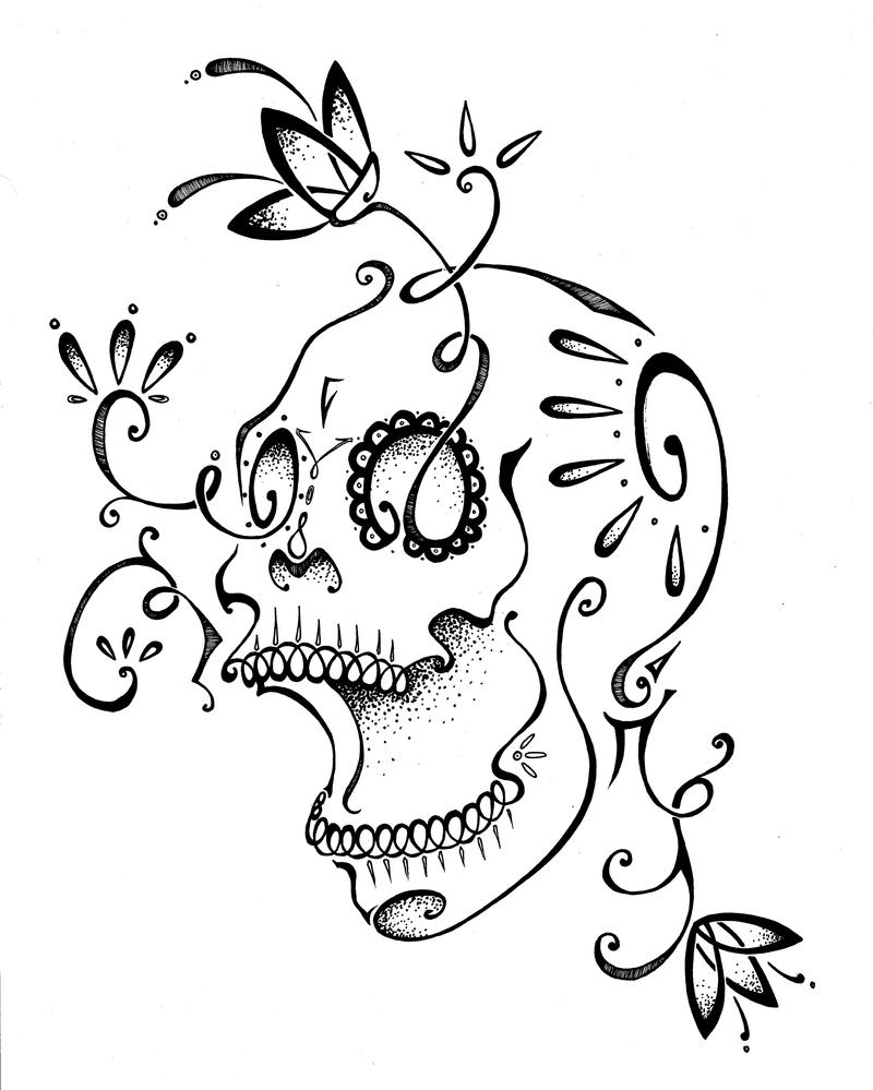 sugar skull with flowers flower skull by nico mac on deviantart sugar with flowers skull