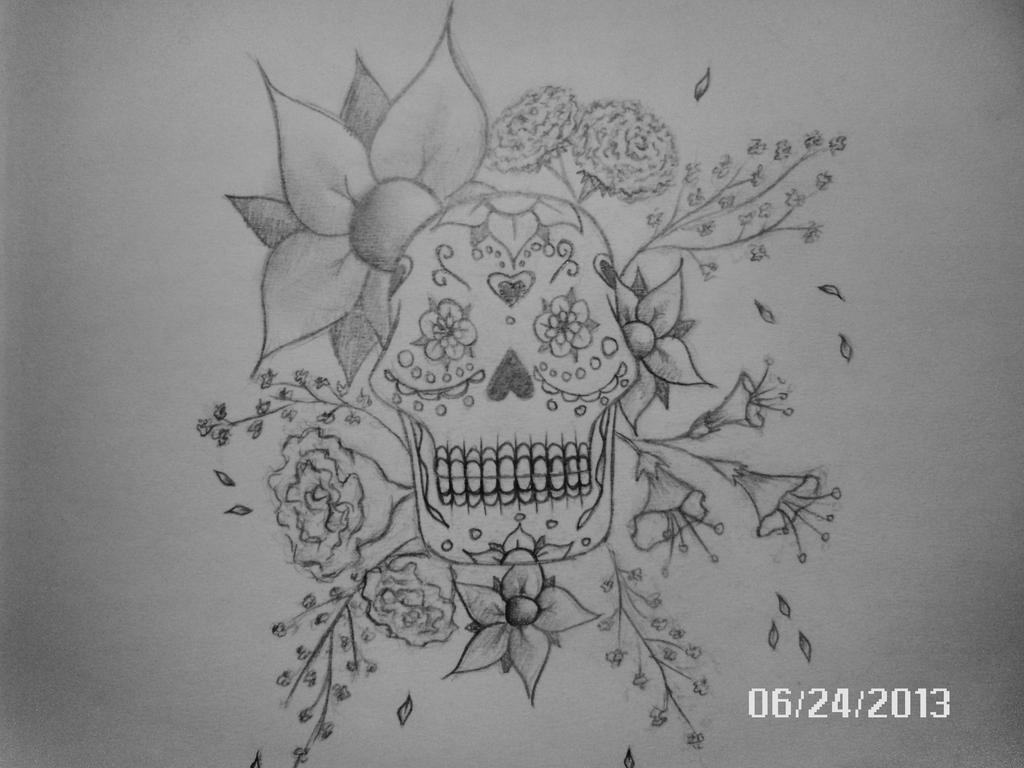 sugar skull with flowers in these alluring drawings american illustrator jennifer with skull sugar flowers