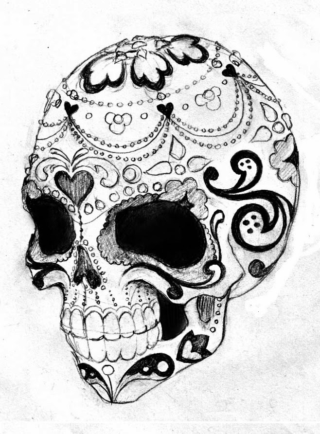 sugar skull with flowers rose flowers and mexican skull tattoo design skull sugar skull flowers with