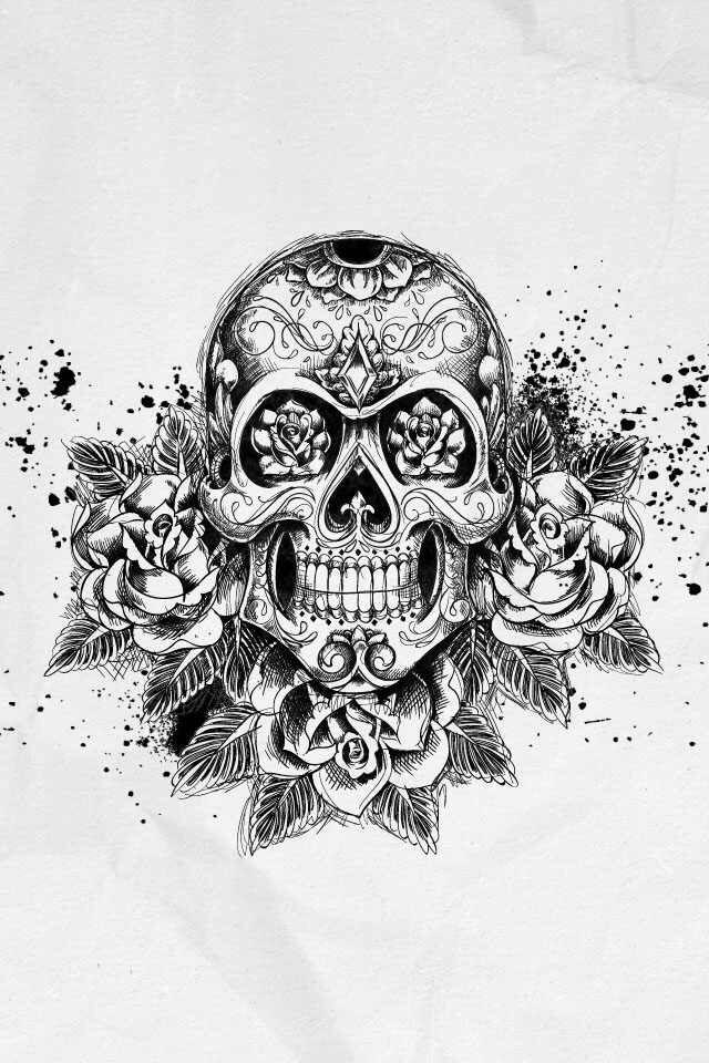 sugar skull with flowers skull art random things i like tatuagem tatuagem flowers with sugar skull