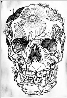 sugar skull with flowers skull tattoo images designs skull flowers with sugar