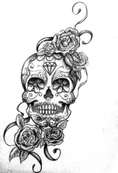 sugar skull with flowers sugar skull flowers anne bright designs skull flowers with sugar