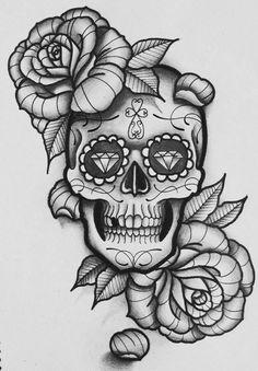 sugar skull with flowers sugar skulls tat2blog skull flowers with sugar