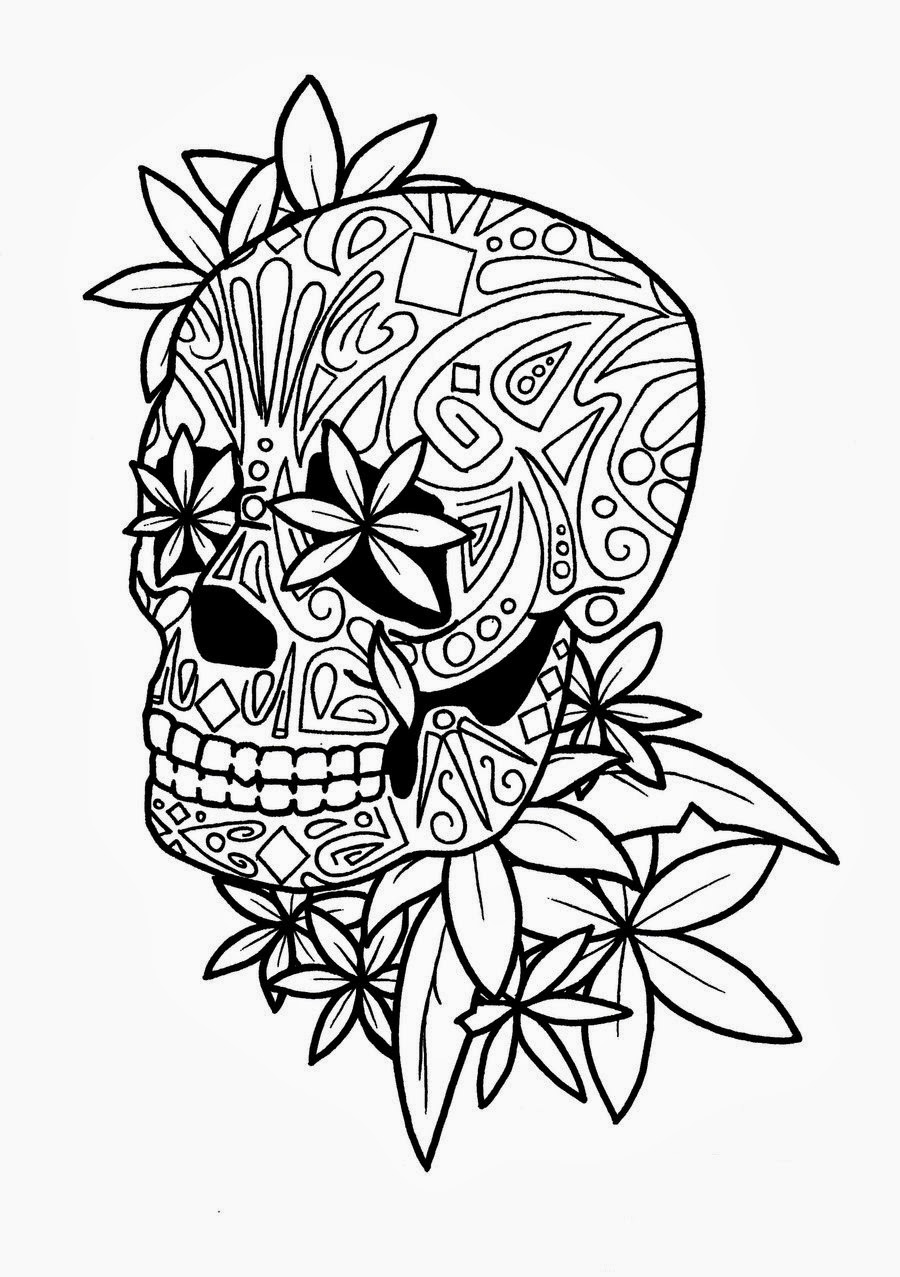 sugar skull with flowers untitled image 2297120 by ladyd on favimcom flowers with sugar skull