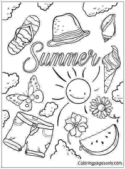 summer coloring page summer coloring pages coloring page summer