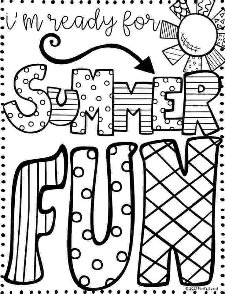 summer coloring page summer coloring pages part ii summer coloring page