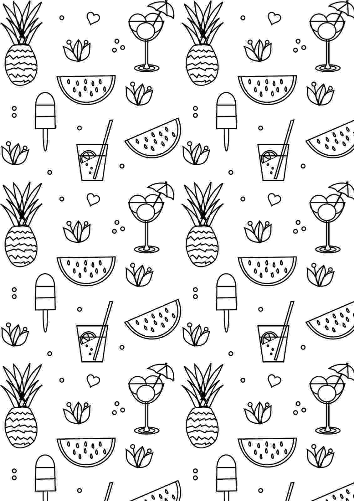summer coloring page summer coloring pages to print summer coloring page