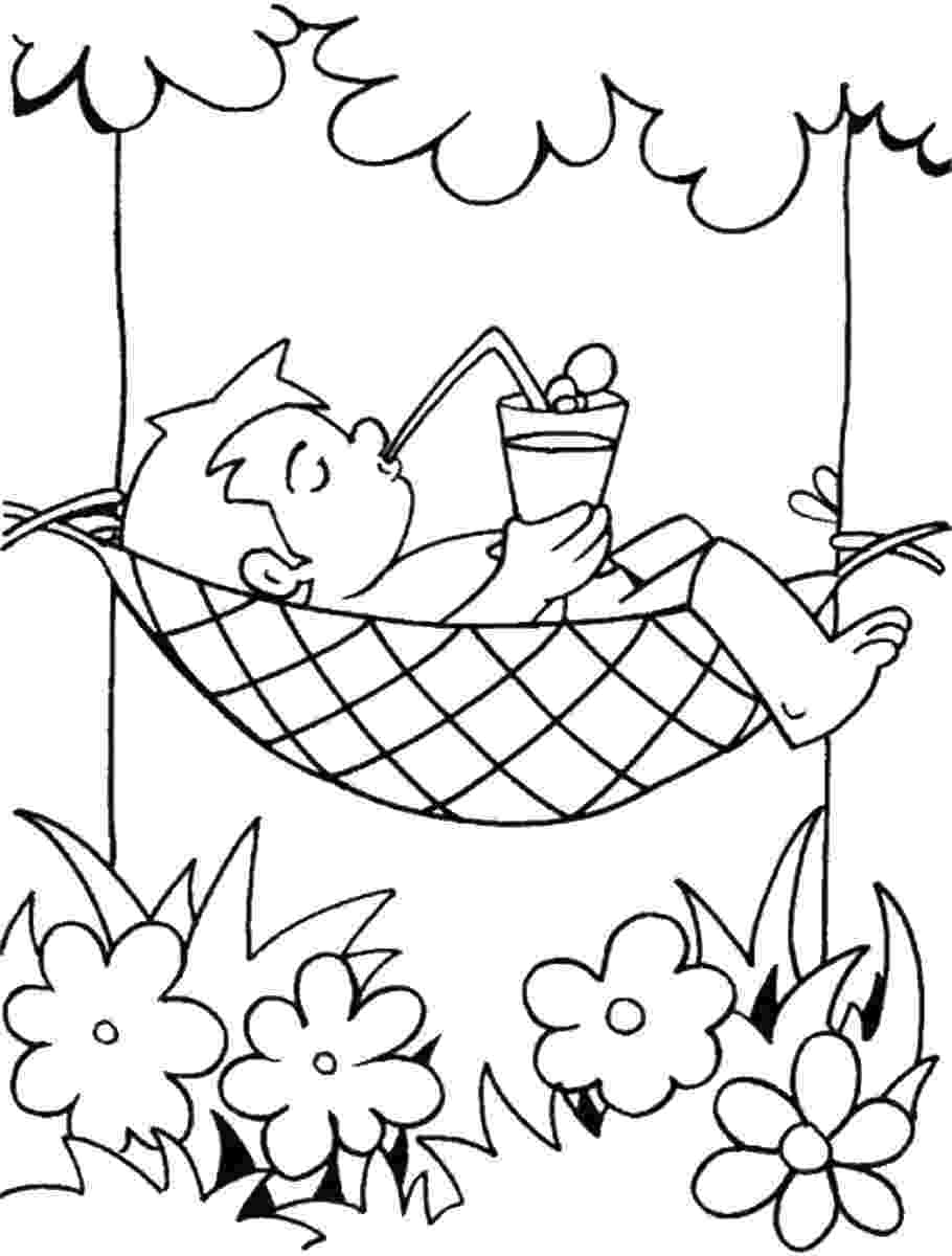 summer coloring page summer holiday coloring pages summer page coloring