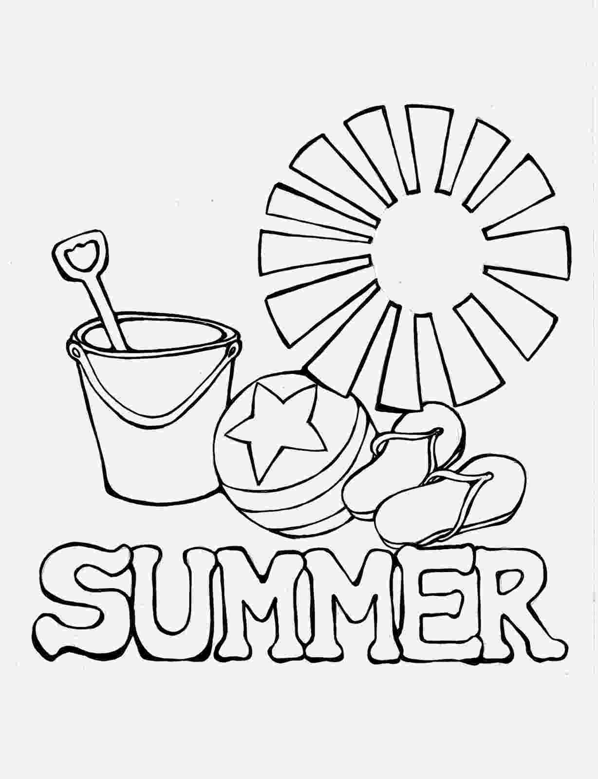 summer coloring page wwwprekandksharingblogspotcom summer page coloring