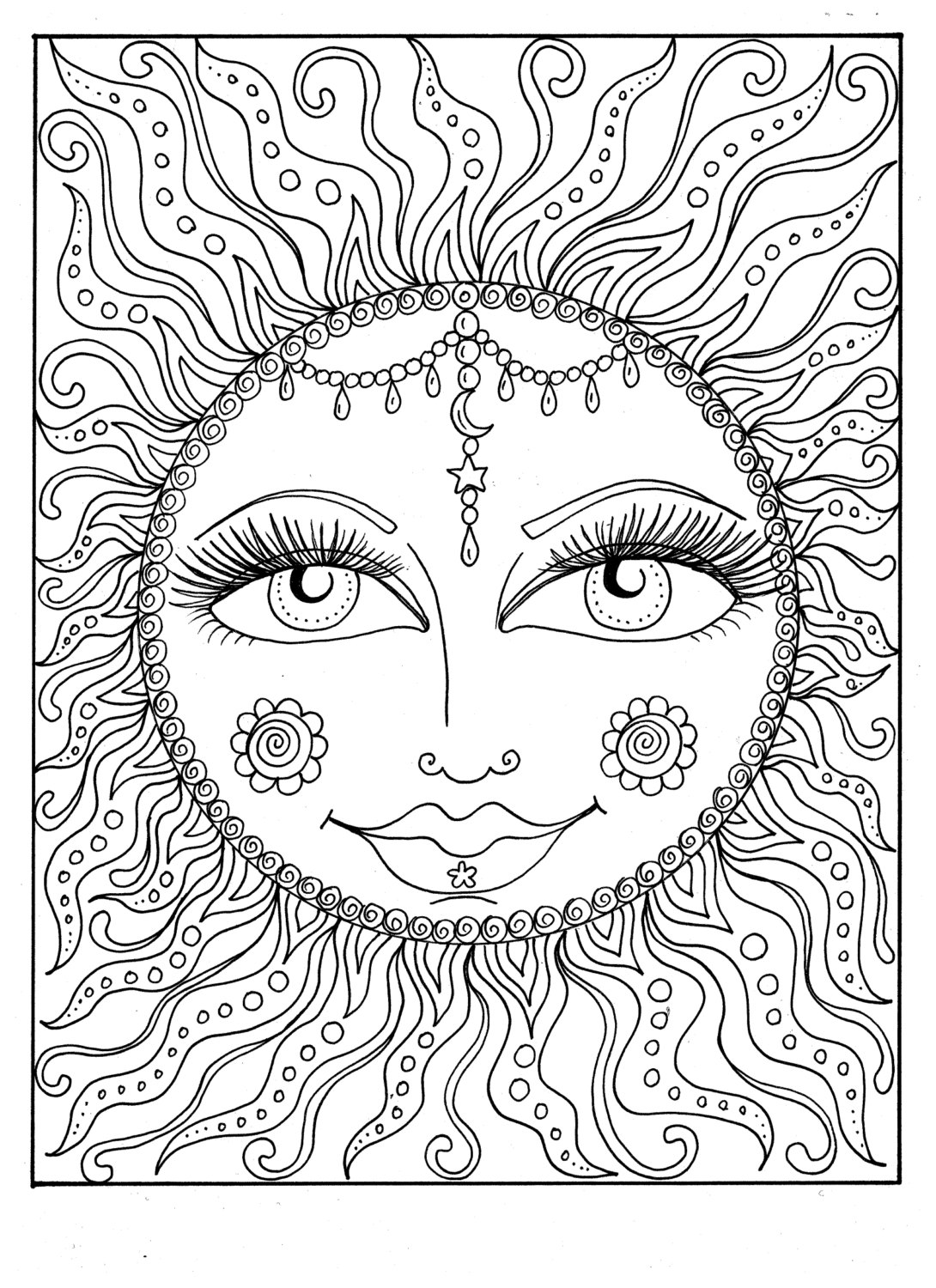 summertime coloring pages instant download sun summer coloring page adult coloring page coloring summertime pages