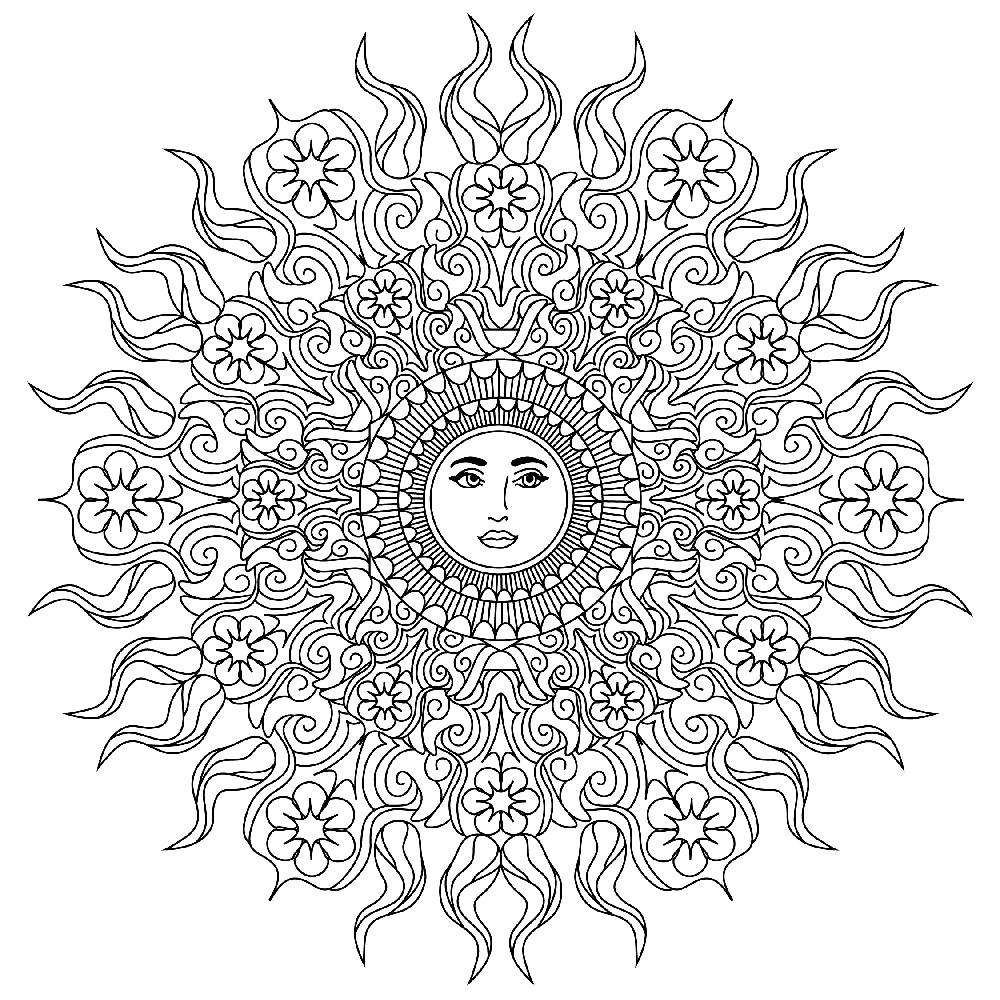 sun mandala coloring pages 2335 best mandala images on pinterest coloring books pages coloring mandala sun