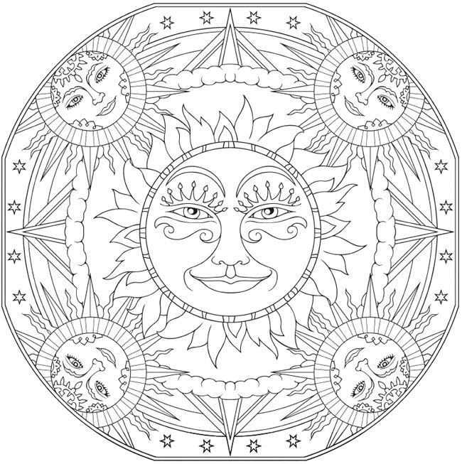 sun mandala coloring pages art deco fire water mandala by gabe mcginn skillshare pages coloring sun mandala
