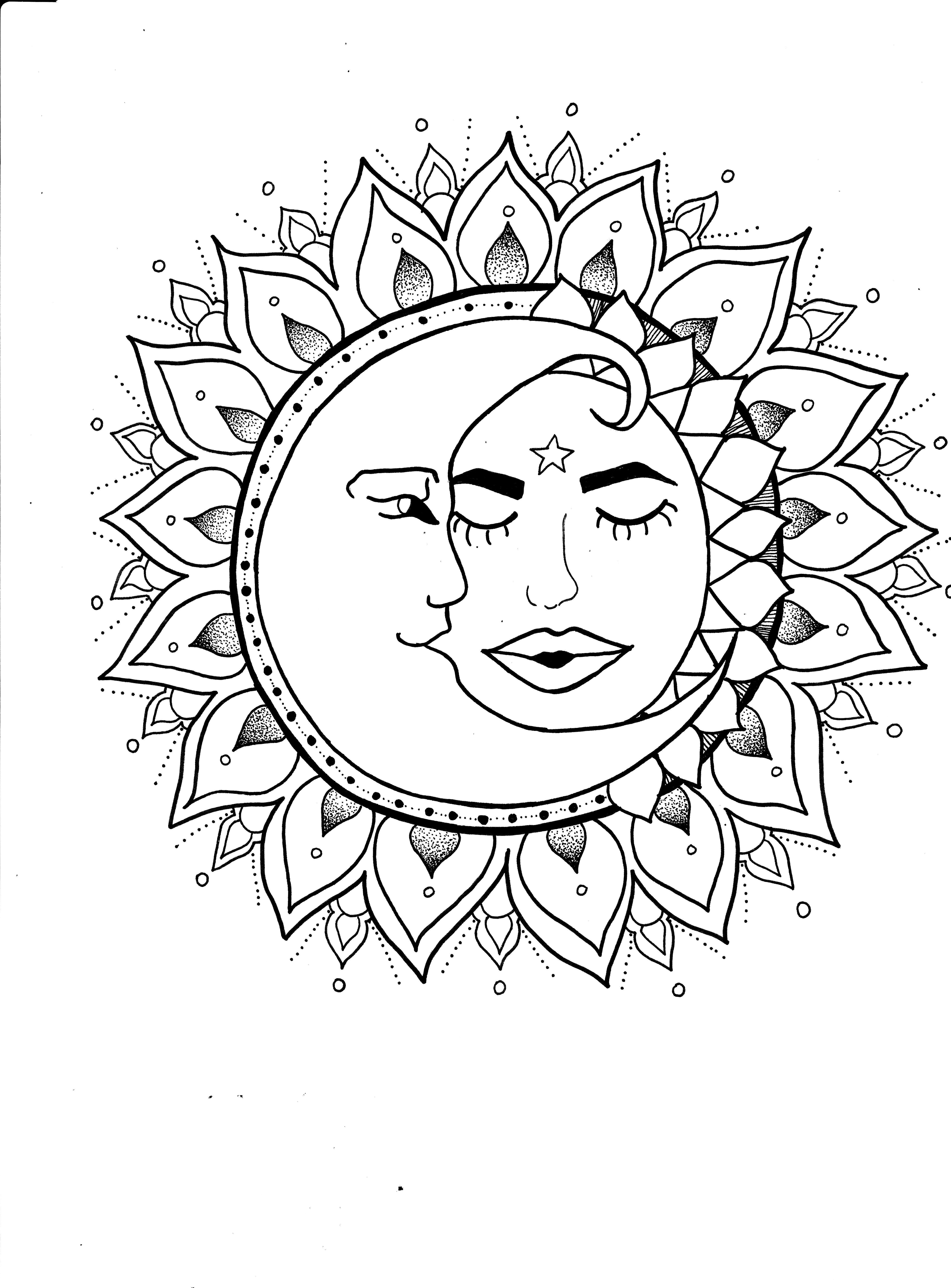 sun mandala coloring pages don39t eat the paste celestial mandala 2016 sun coloring mandala pages