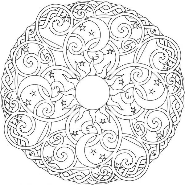 sun mandala coloring pages sun and moon mandala coloring pages free coloring for mandala sun coloring pages