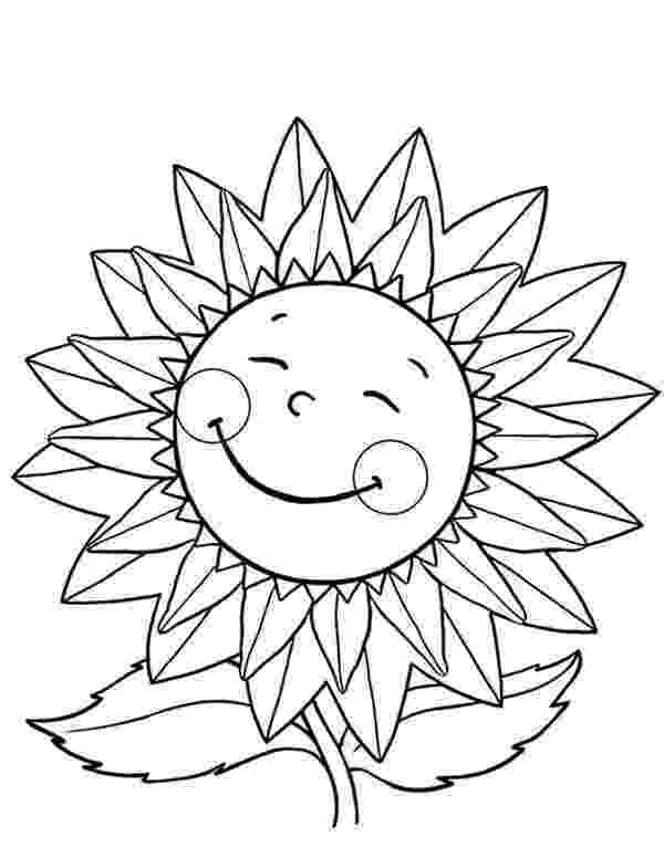 sunflower to color happy sunflower coloring page happy sunflower coloring to color sunflower