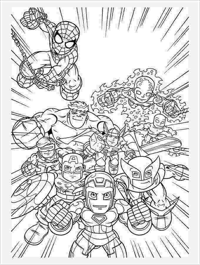 super heroes coloring pages scott koblish more disney marvel super heroes magazine super pages coloring heroes