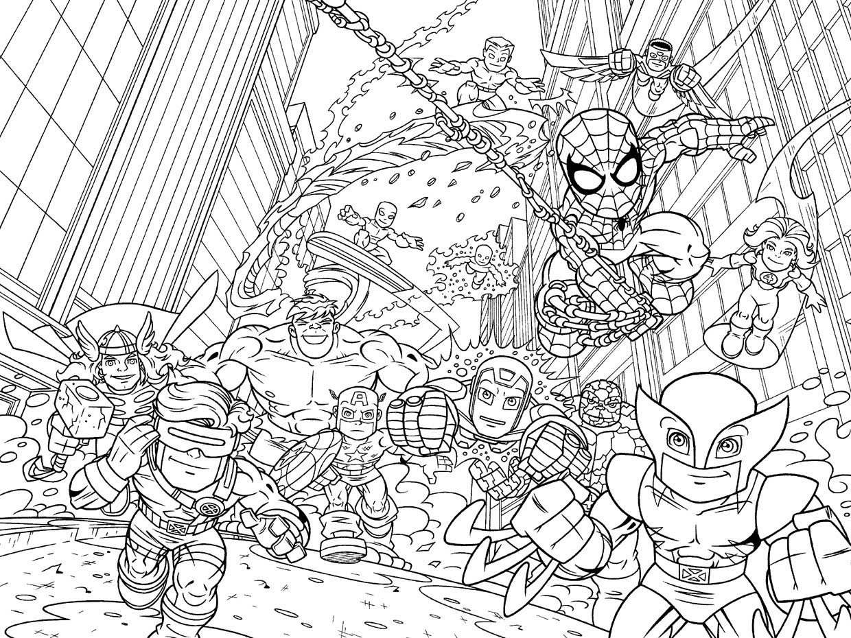 super heroes colouring pictures marvel superhero squad coloring pages colouring heroes super pictures