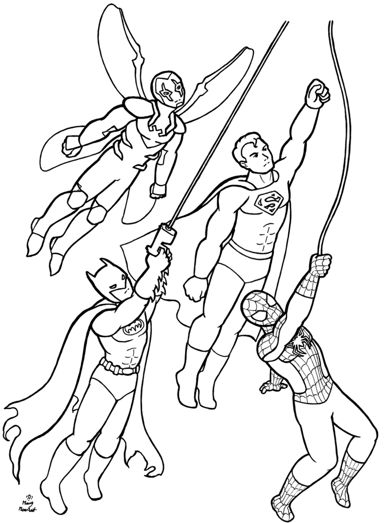 super heroes colouring pictures superheroes coloring page commission by firefiriel super heroes colouring pictures
