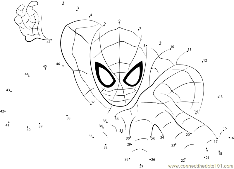 superhero connect the dots spiderman the superhero dot to dot printable worksheet connect dots the superhero