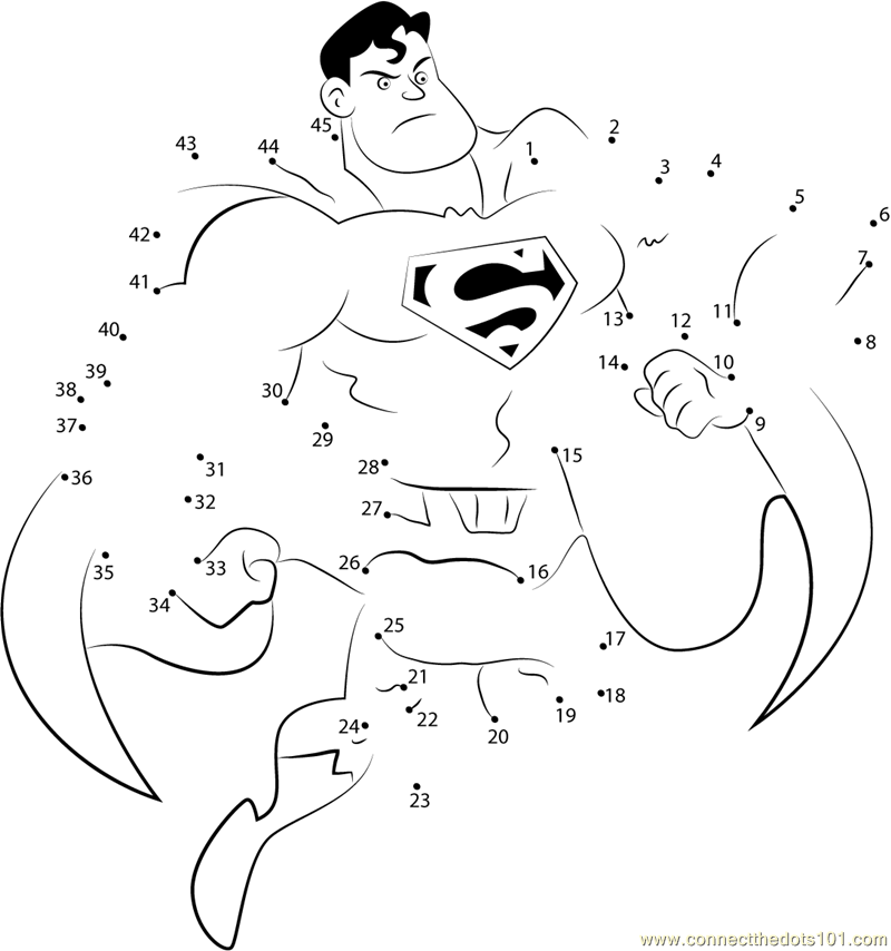 superhero connect the dots superman superhero dot to dot free printable coloring pages the dots connect superhero