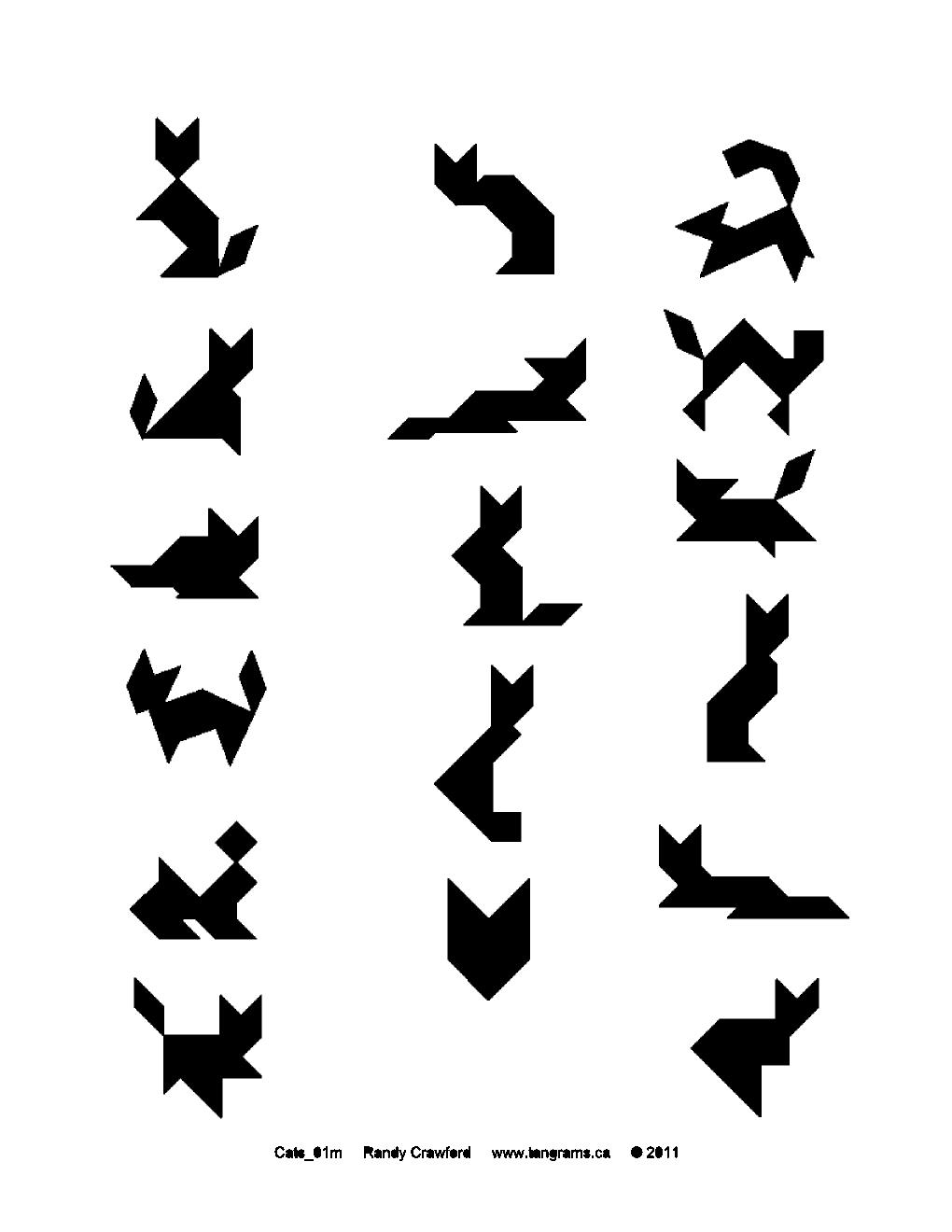 tangram cat tangram cat tangram cat