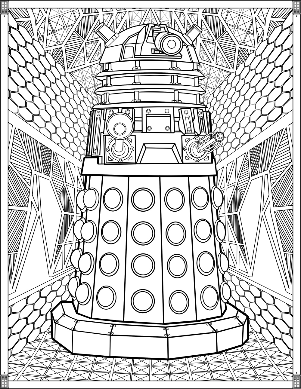 tardis coloring page 7 free doctor who fan art coloring books plus bonus coloring pages kitchen overlord tardis page coloring