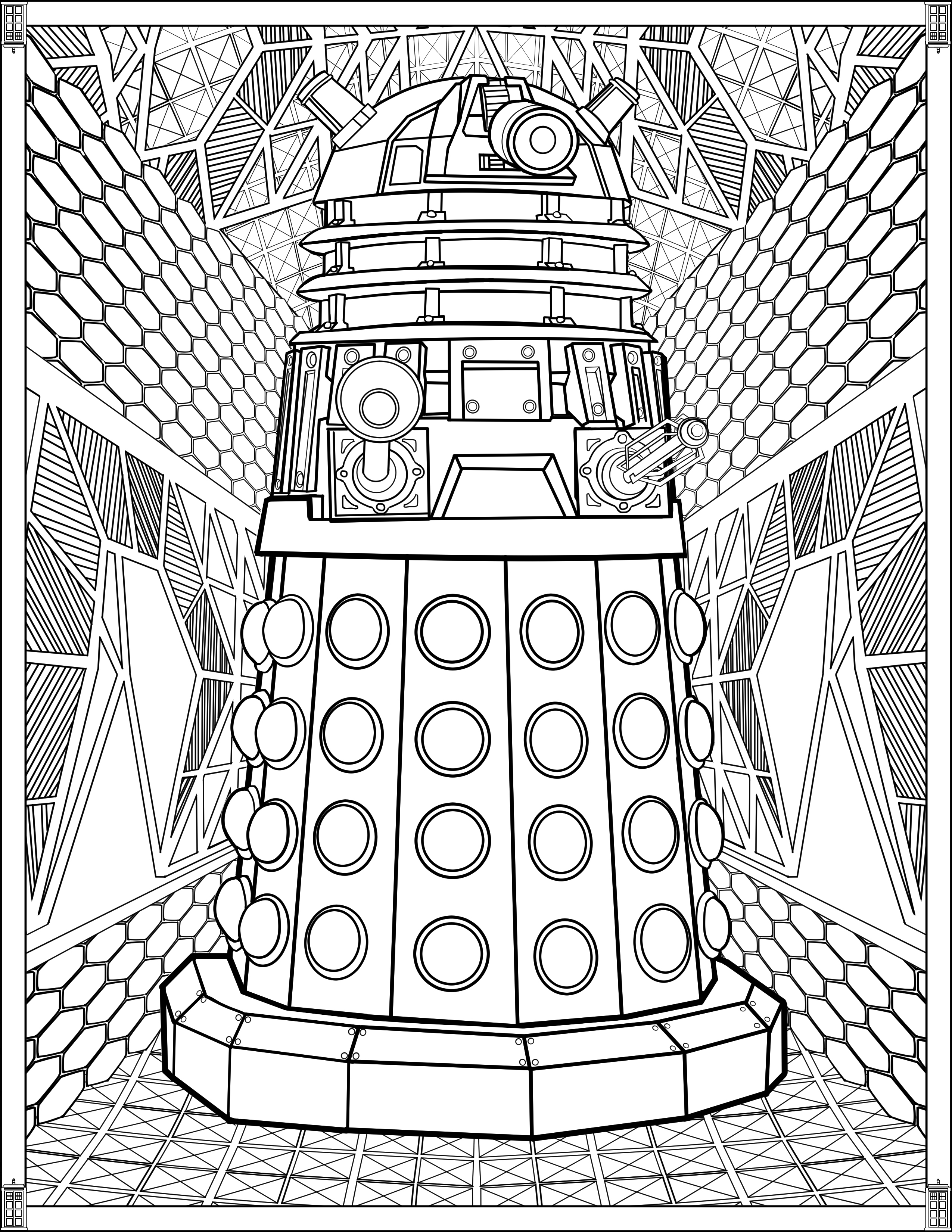 tardis coloring page doctor who wibbly wobbly timey wimey coloring pages printables fun blog tardis page coloring