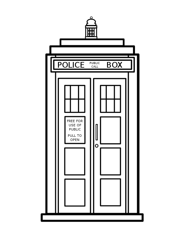tardis coloring page sally forth doctor who jim keefe page coloring tardis