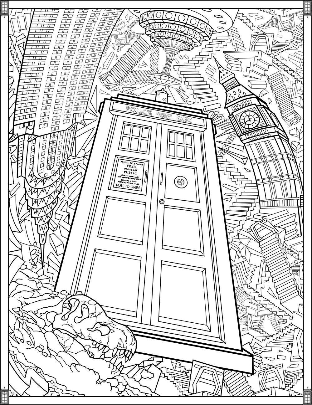 tardis coloring page tardis colouring coloring page doctor who by lyssagal on deviantart tardis page coloring