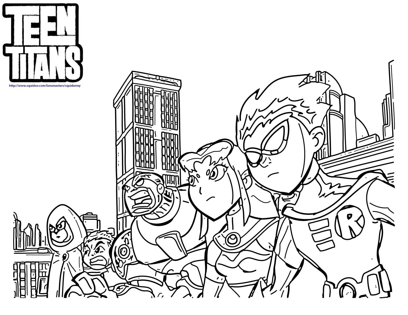 teen titans coloring pages teen titans go coloring pages squid army pages titans coloring teen