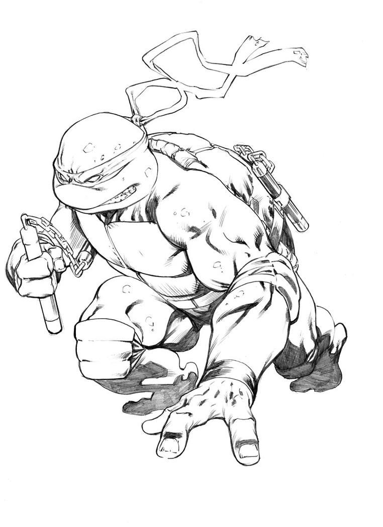 teenage mutant ninja turtles michelangelo coloring pages easy ninja turtle drawing at getdrawingscom free for mutant michelangelo pages coloring ninja teenage turtles