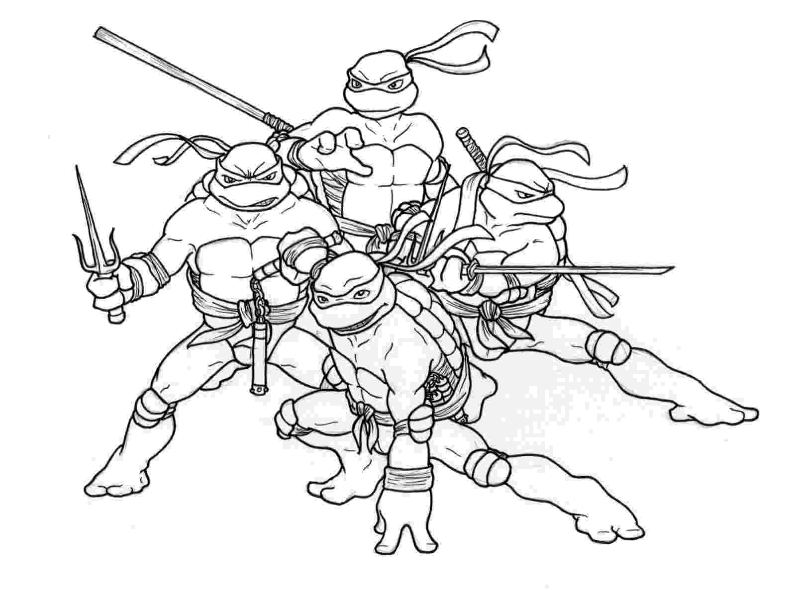 teenage mutant ninja turtles to color print download the attractive ninja coloring pages for ninja to color teenage turtles mutant