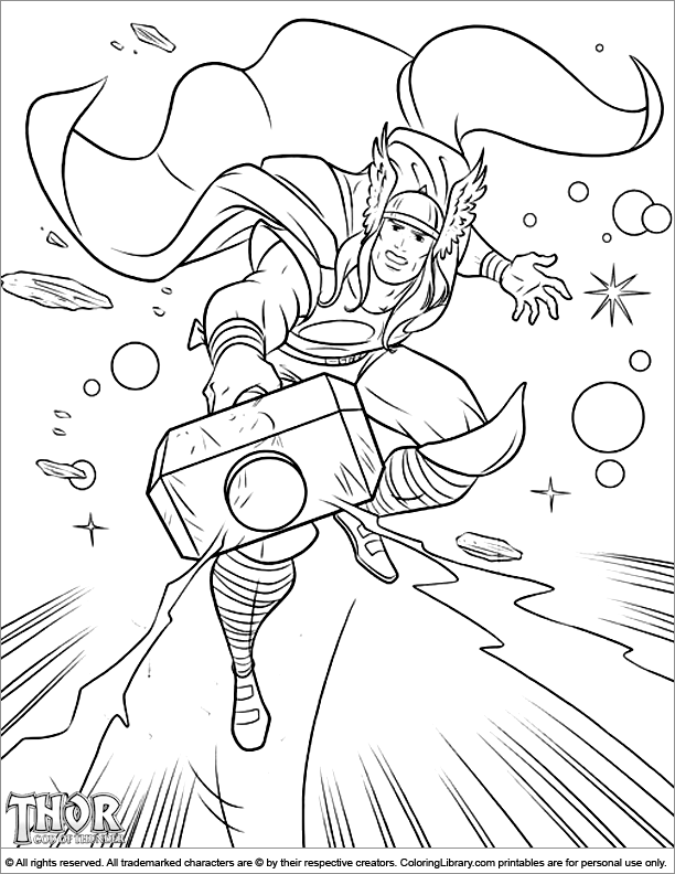 thor colouring pictures thor couldn39t really find any good ones of his full body colouring thor pictures