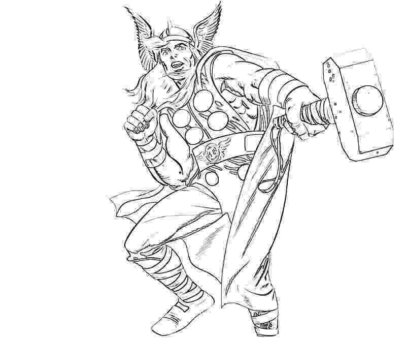 thor colouring pictures thor ready to throw his hammer coloring page netart pictures thor colouring