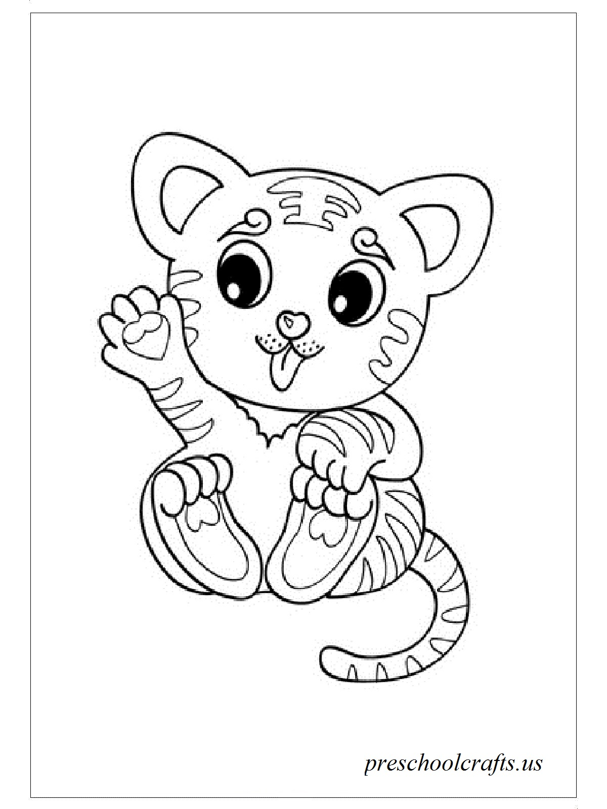tiger coloring book pages cute tiger coloring pages kids coloring pages coloring tiger pages book