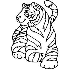 tiger coloring book pages siberian tiger laying down coloring page from tigers pages coloring book tiger