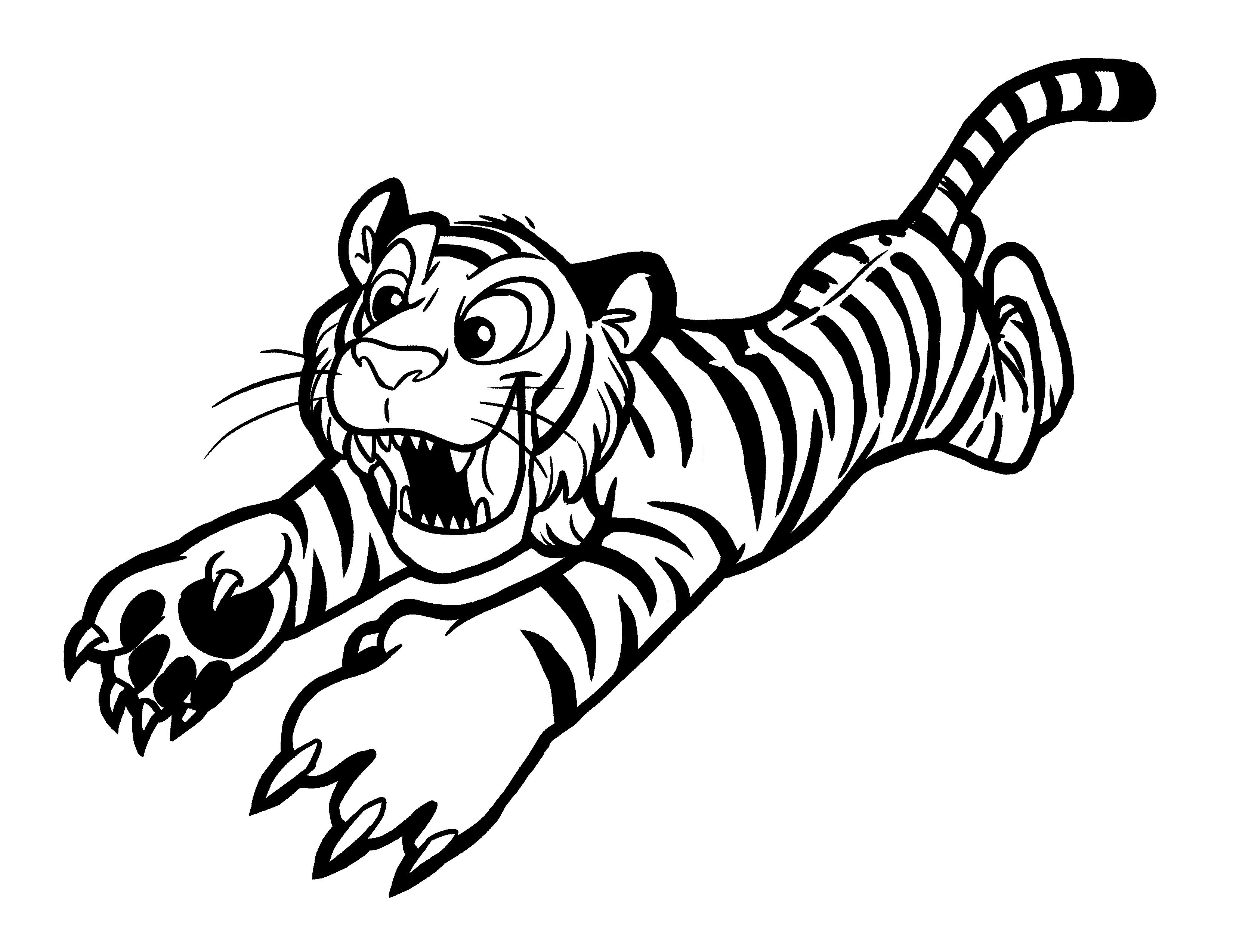 tiger coloring page free printable animal tiger coloring pages page tiger coloring