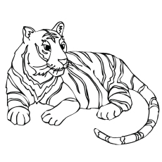 tiger images for colouring tiger line drawing at getdrawingscom free for personal colouring for images tiger