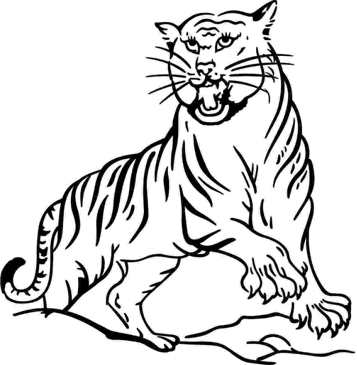 tiger to color free printable tiger coloring pages for kids color to tiger