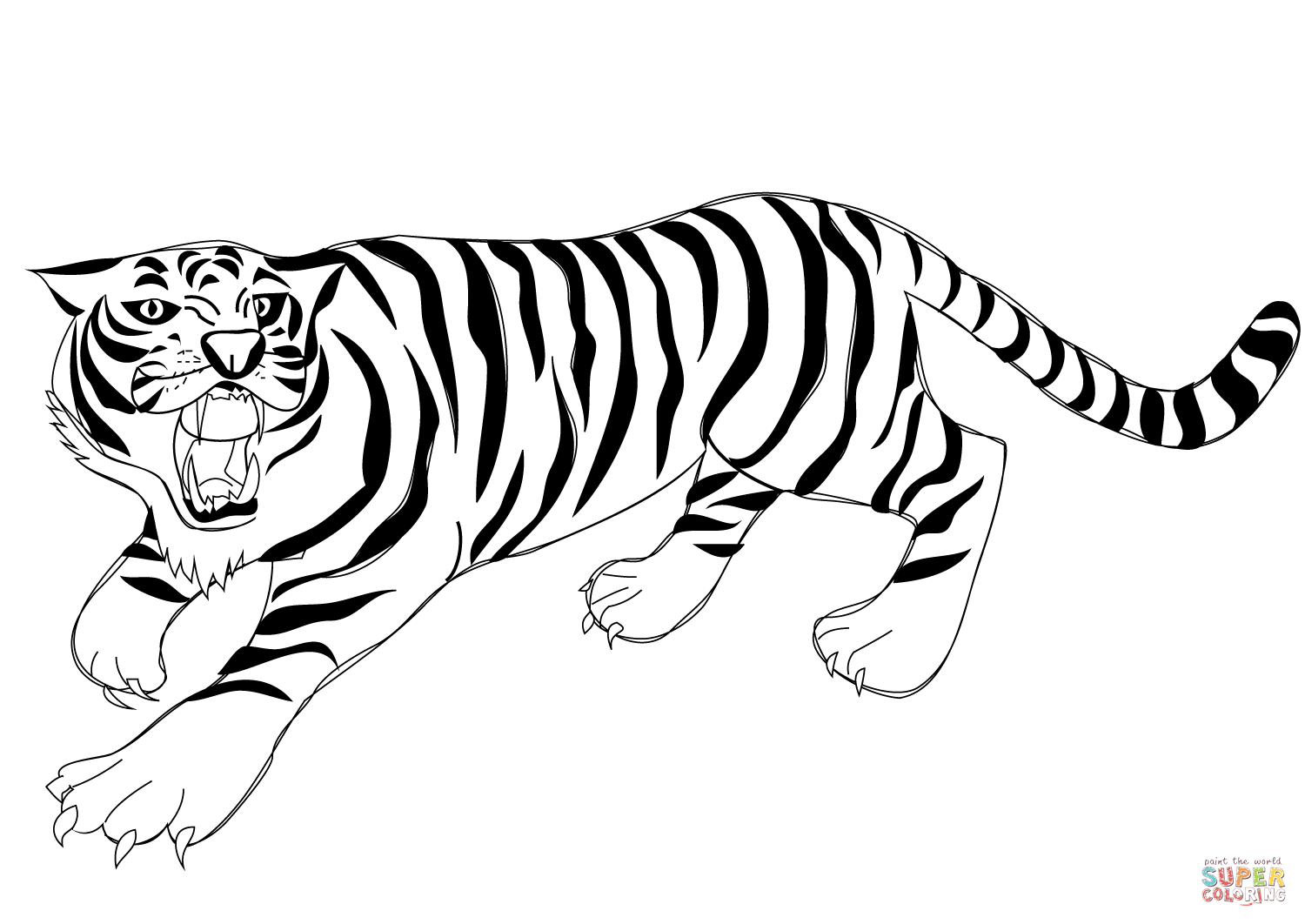 tiger to color lion roar drawing at getdrawings free download to tiger color