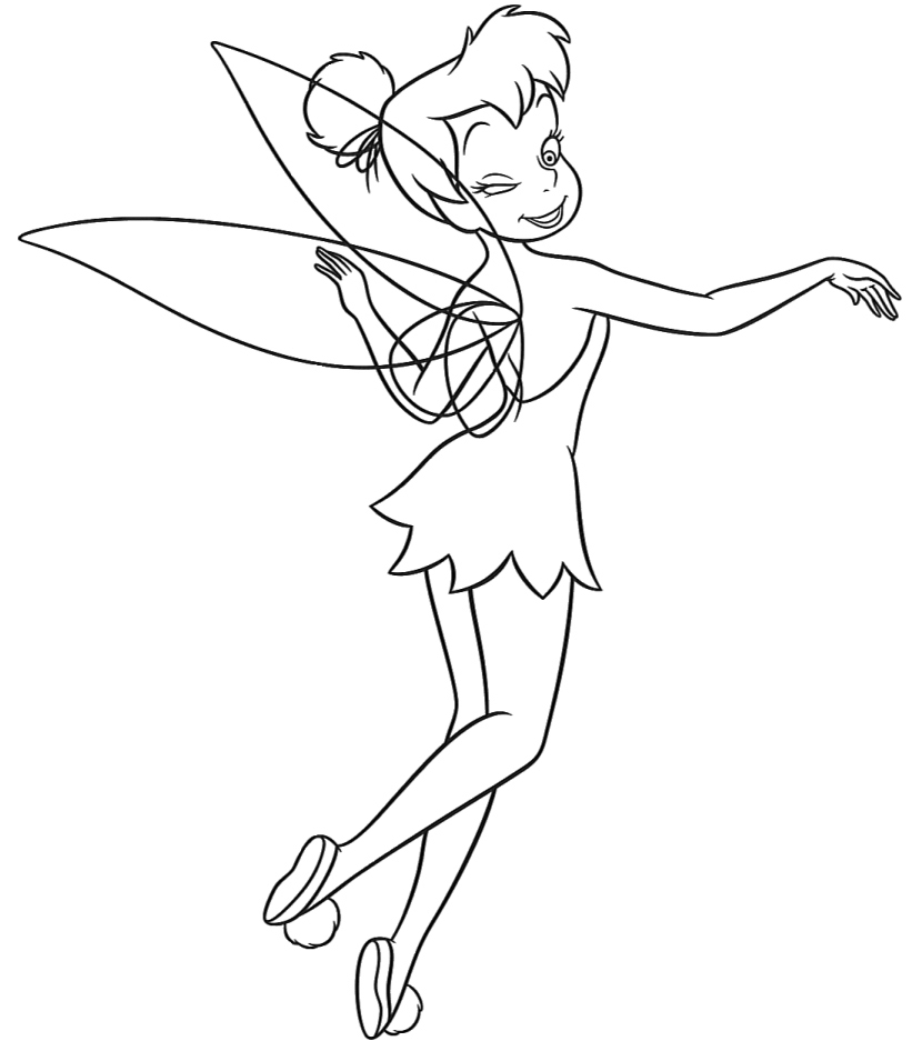 tinkerbell coloring page coloring tinkerbell coloring pages page tinkerbell coloring
