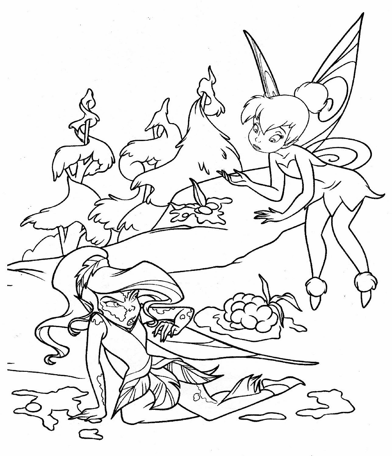 tinkerbell coloring page printable coloring pages page tinkerbell coloring