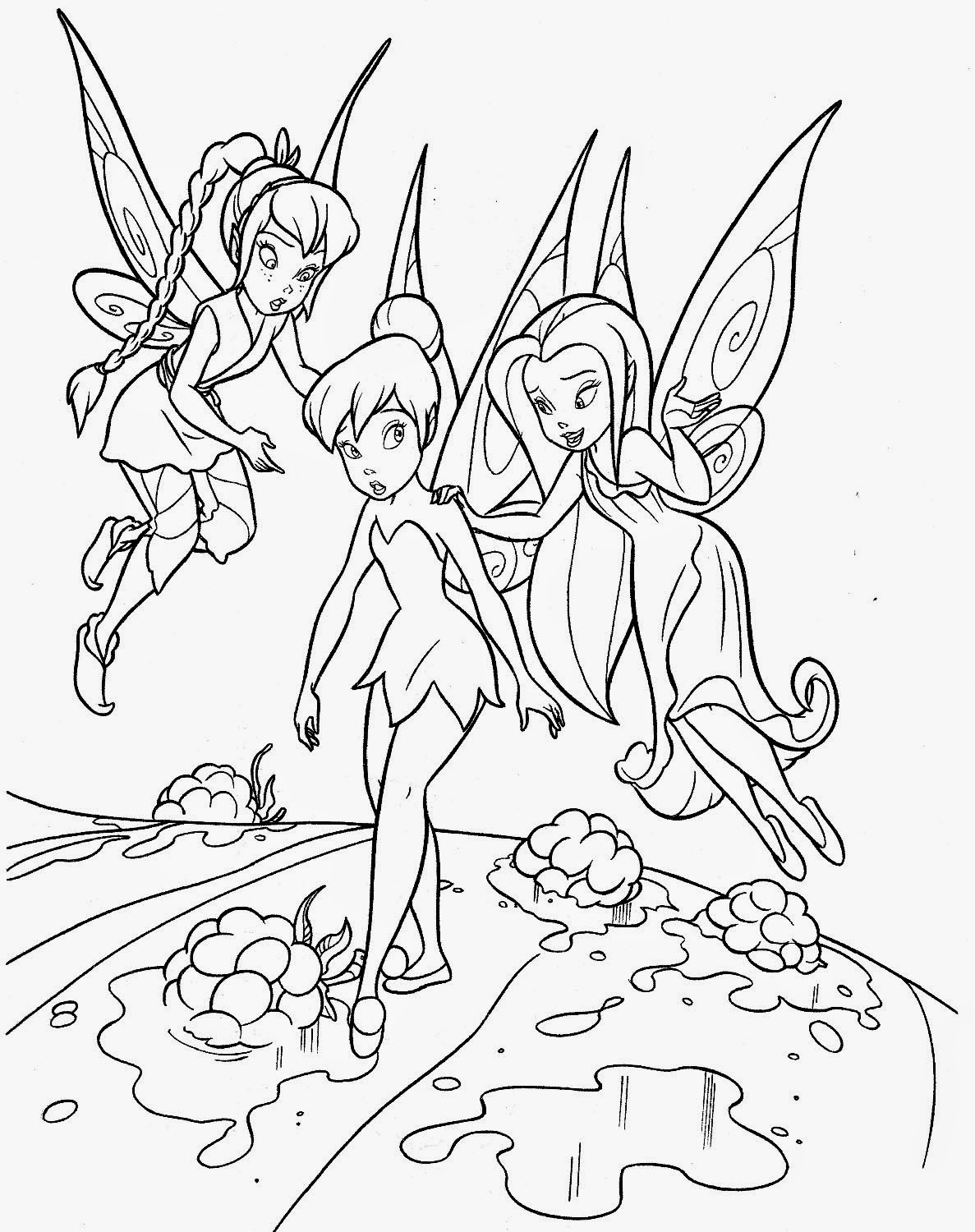 tinkerbell coloring page transmissionpress may 2011 coloring tinkerbell page