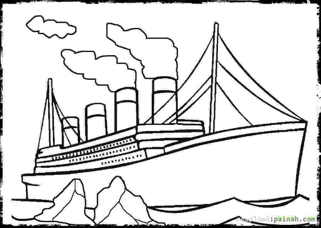 titanic coloring pages titanic sinking drawing at getdrawingscom free for coloring titanic pages