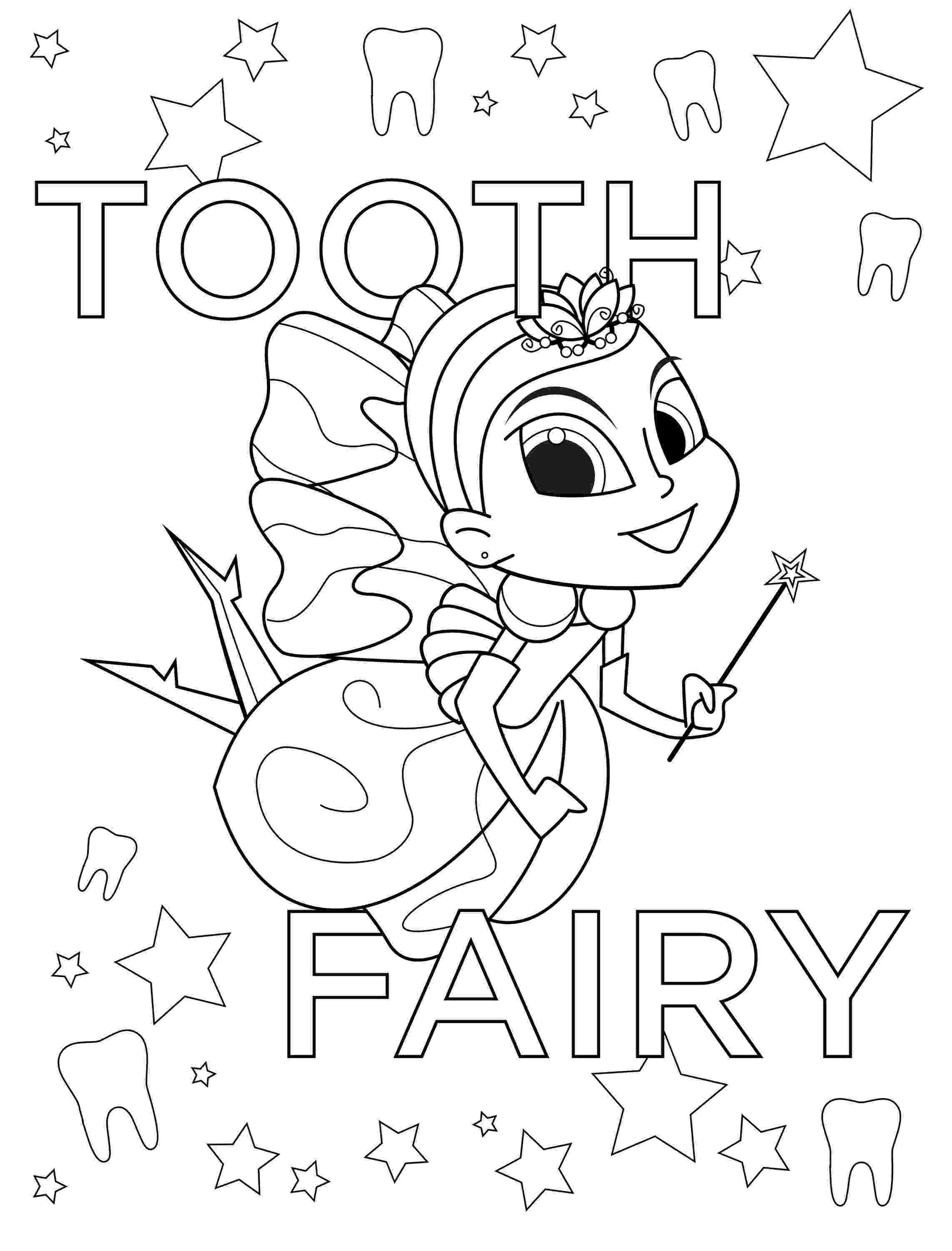 tooth fairy coloring pages tooth fairy day dekamore dental coloring tooth pages fairy