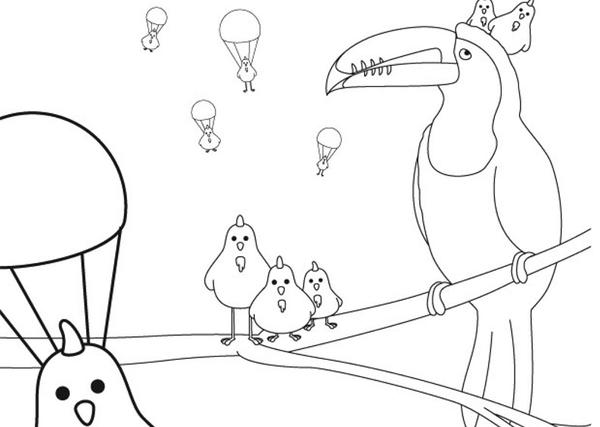 toucan pictures to print toucan holds a letter in its bill coloring page super pictures to toucan print