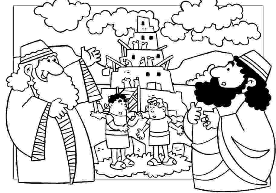 tower of babel coloring page tiny hearts blog lesson 15 tower of babel coloring babel of tower page