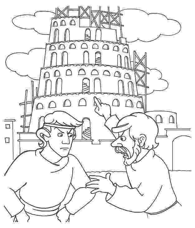 tower of babel coloring page tower of babel coloring page kids play color tower page coloring of babel
