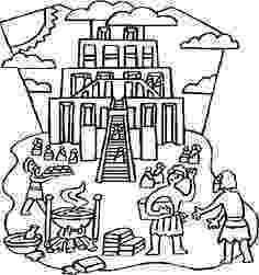 tower of babel coloring page tower of babel coloring pages for kids sketch coloring page tower of coloring page babel